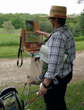 Deb Dawson at her Plein Air Workshop