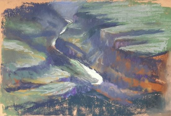 The Colorado River - 9 X 12 - Pastel